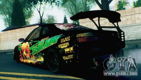 Nissan Silvia S15 Itasha for GTA San Andreas left view