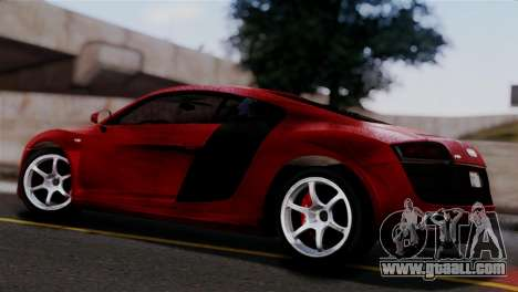 Audi R8 V10 v1.0 for GTA San Andreas left view
