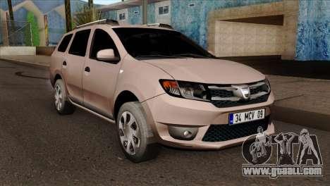 Dacia Logan MCV 2013 IVF for GTA San Andreas