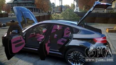 HAMANN BMW X6 2011 Tycoon EVO M v1.0 TSE for GTA 4 upper view
