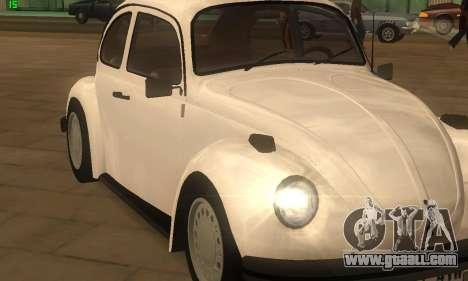 Volkswagen Beetle 1984 for GTA San Andreas back left view
