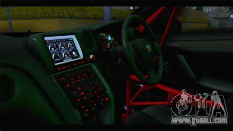 Nissan Skyline GTR Rockstar Energy for GTA San Andreas back view