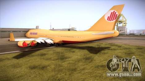 GTA V 747 Adios Airlines for GTA San Andreas back left view