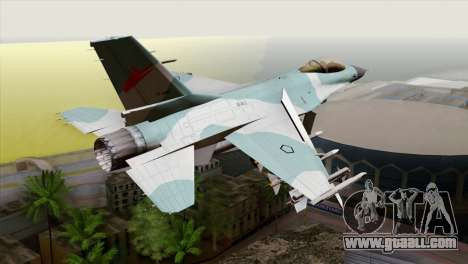 F-16C TNI Angkatan Udara for GTA San Andreas left view