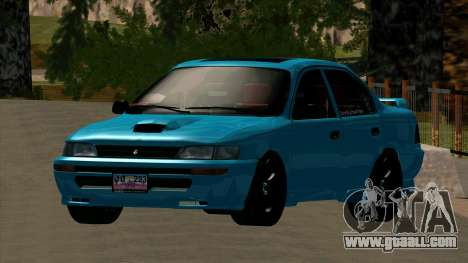 Toyota Corola AE100 for GTA San Andreas inner view