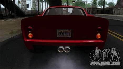 GTA 5 Grotti Stinger GT v2 IVF for GTA San Andreas back view