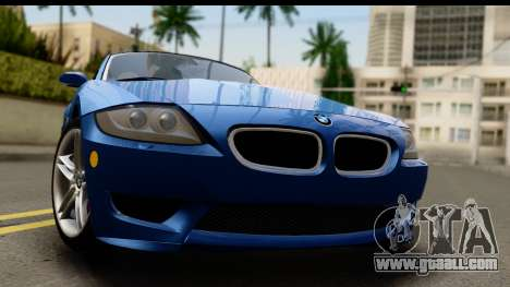 BMW Z4M Coupe 2008 for GTA San Andreas back left view