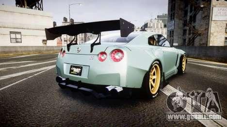 Nissan GT-R R35 Rocket Bunny [Update] for GTA 4 back left view