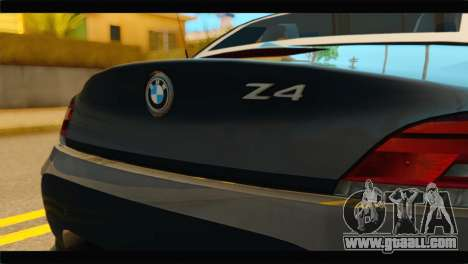 BMW Z4 sDrive35is 2011 for GTA San Andreas back view