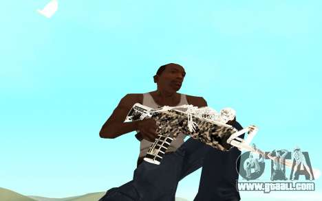 Skeleton Weapon Pack for GTA San Andreas second screenshot