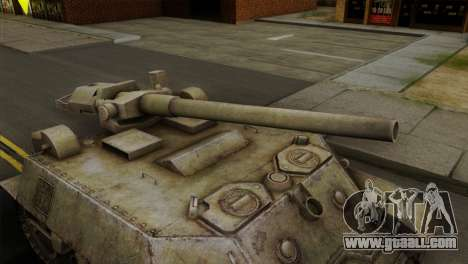 T57 Self Propelled Gun for GTA San Andreas right view