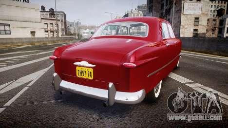 Ford Custom Fordor 1949 v2.2 for GTA 4 back left view