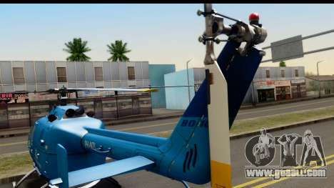 MBB Bo-105 KLM for GTA San Andreas back left view