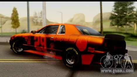 Elegy NASCAR for GTA San Andreas back left view
