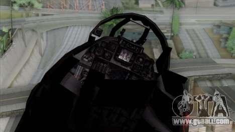 F-14 China Air Force for GTA San Andreas back view