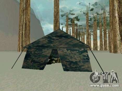 Tent for GTA San Andreas third screenshot