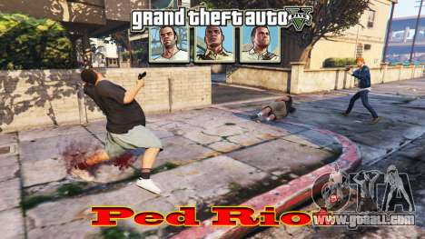 GTA 5 Ped Riot (a Riot of the citizens of Los Santos)