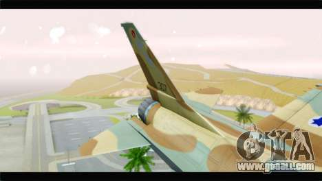 F-16A Netz for GTA San Andreas back left view