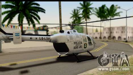 MBB Bo-105 Argentine Police for GTA San Andreas left view