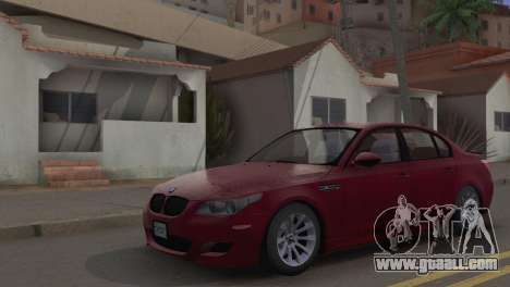 BMW M5 E60 2009 Stock for GTA San Andreas back view
