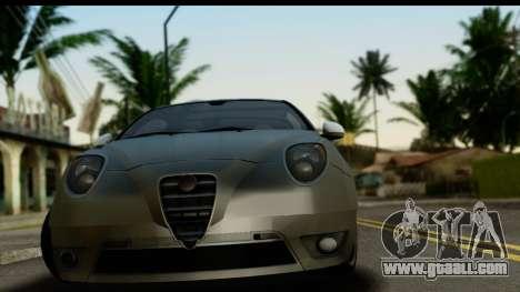 Alfa Romeo Mito Tuning for GTA San Andreas back left view