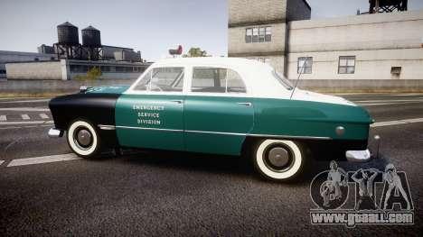 Ford Custom Fordor 1949 New York Police for GTA 4 left view