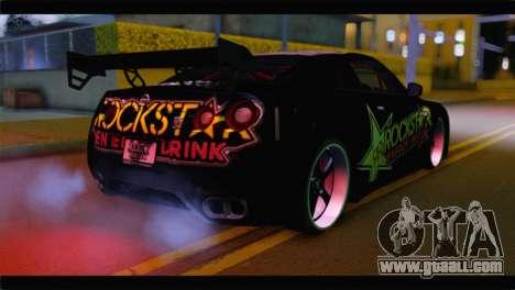 Nissan Skyline GTR Rockstar Energy for GTA San Andreas left view