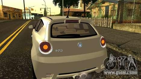 Alfa Romeo Mito Tuning for GTA San Andreas upper view