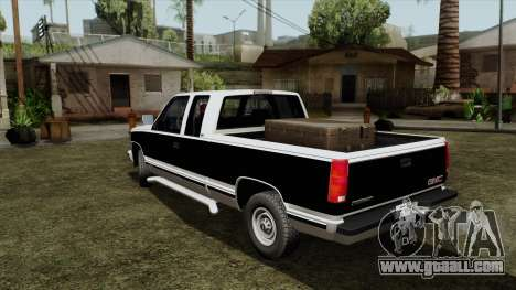 GMC Sierra 2500 1992 Extended Cab Final for GTA San Andreas back left view