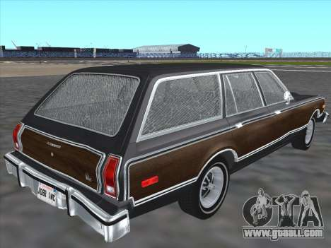 Plymouth Volare Wagon 1976 wood for GTA San Andreas back left view