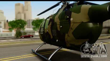 MBB Bo-105 Army for GTA San Andreas back left view