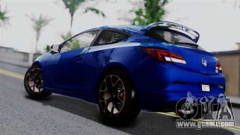 Vauxhall Astra VXR 2012 for GTA San Andreas left view