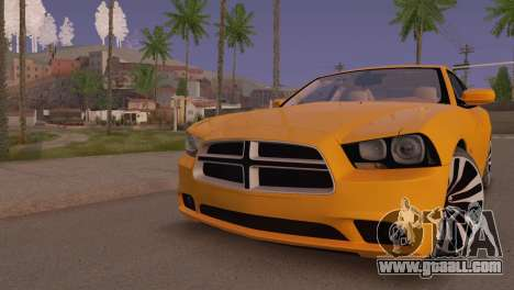 Dodge Charger SRT8 2012 Stock Version for GTA San Andreas left view
