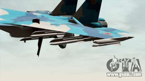 SU-33 Flanker-D Blue Camo for GTA San Andreas right view