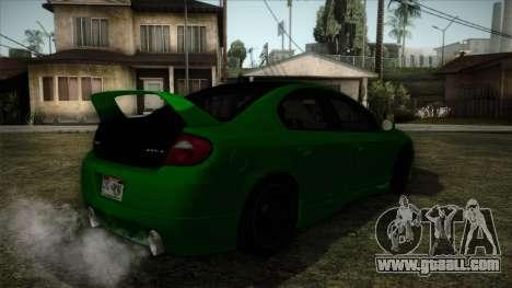 Dodge Neon SRT-4 Custom 2006 for GTA San Andreas left view