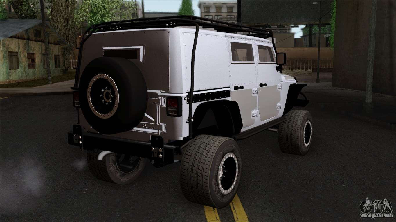 jeep wrangler 2013 fast furious edition for gta san andreas. Black Bedroom Furniture Sets. Home Design Ideas