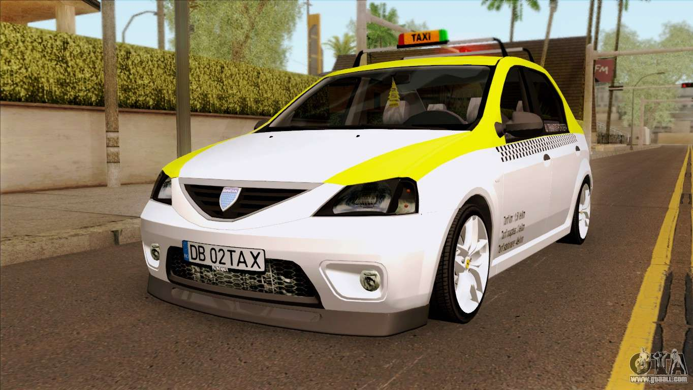 dacia logan taxi for gta san andreas. Black Bedroom Furniture Sets. Home Design Ideas