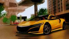 Acura NSX 2016 v1.0 SA Plate for GTA San Andreas