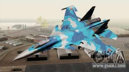 SU-33 Flanker-D Blue Camo for GTA San Andreas