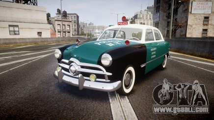 Ford Custom Fordor 1949 New York Police for GTA 4