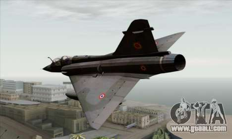 Dassault Mirage 2000-N SAM for GTA San Andreas left view