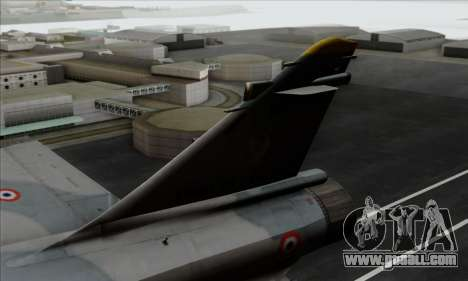 Dassault Mirage 2000-5 ACAH for GTA San Andreas back left view