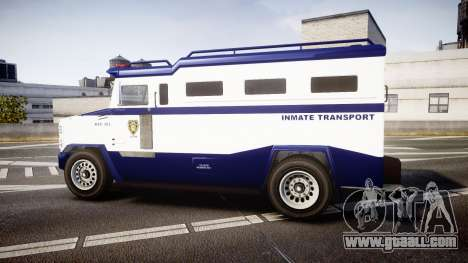 GTA V Brute Police Riot [ELS] skin 3 for GTA 4 left view