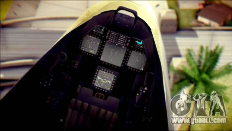 F-22 Raptor Razgriz for GTA San Andreas right view