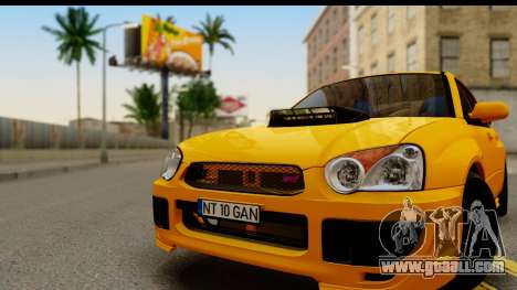 Subaru Impreza WRX STI 2005 Romanian Edition for GTA San Andreas back left view