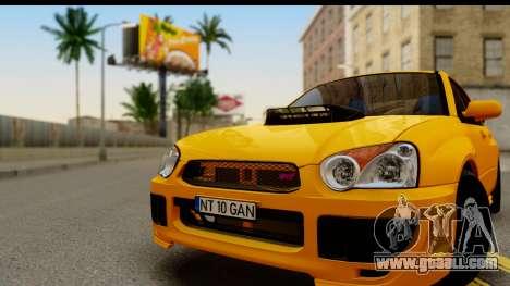 Subaru Impreza WRX STI 2005 Romanian Edition for GTA San Andreas back left view