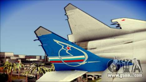 MIG-29 Fulcrum Reskin for GTA San Andreas back left view