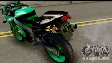 Kawasaki ZX-9R for GTA San Andreas back left view
