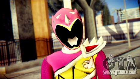 Power Rangers Kyoryu Pink Skin for GTA San Andreas third screenshot
