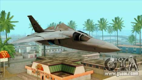 General Dynamics F-111 Aardvark for GTA San Andreas back view